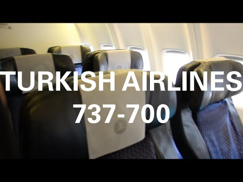 TURKISH AIRLINES B737 700 ECONOMY CLASS TK1353 ISTANBUL - LUXEMBOURG