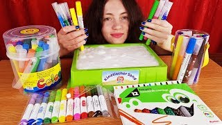 Slime Coloring with 100 Markers