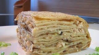 Блинчатый пирог видео рецепт. Книга о вкусной и здоровой пище