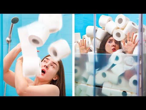 5000 рулонов туалетной бумаги челлендж!
