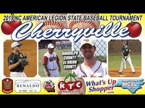 Randolph County Wins 7-3 Vs Union County - 2019 NC American Legion State Baseball Tournament