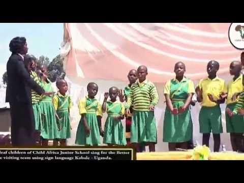 CHILD AFRICA DEAF CHILDREN SINGING DURING THE BETTER GLOBE VISIT IN KABALE   UGANDA