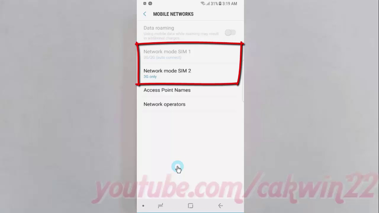 Android Nougat : How to Change Network Mode as Auto connect (LTE/3G/2G) on  Samsung Galaxy S8