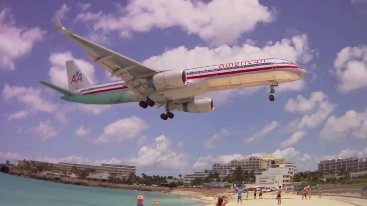 Amazing Maho Bay Beach Planes Landing St Maarten Island Princess Juliana Airport Caribbean You