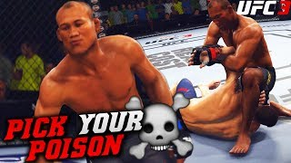 Jacare Souza Has Submissions and Hands For Knockouts! EA Sports UFC 3 Online Gameplay
