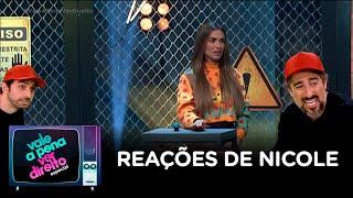 Mion analisa reações de Nicole Bahls durante prova de choques no Power Couple Brasil