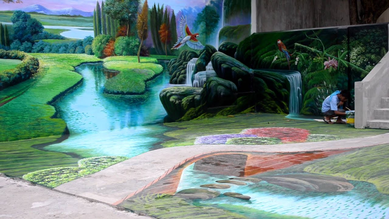 Feature Wall Wallpaper 3d Biggest 3d Mural Painting In The Philippines 3d Painting