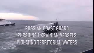 Tensions In Black Sea As Russian And Ukrainian Ships Clash Near Strategic Bridge
