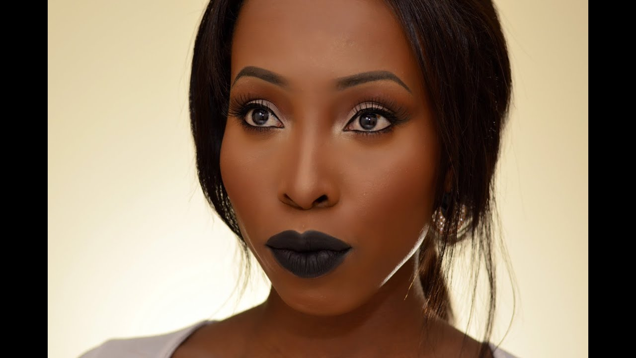 Fall Makeup Tutorial Limecrime Black Velvet Lips on Women of ...