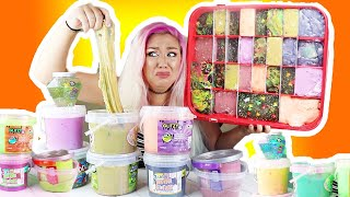 MAKING A GIANT SLIME PALLET OUT OF ALL MY SLIME SMOOTHIES! ( SO DISGUSTING! )