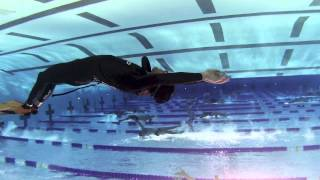Freediving : Drifiting In The Calm Below The Surface