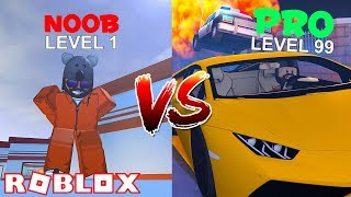 NOOB VS PRO [NEW COP XP GLITCH]!! | Roblox Jailbreak Winter Update