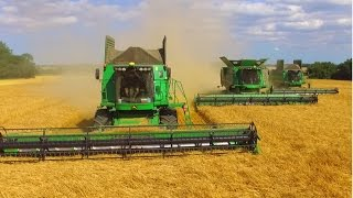 Harvest 2016 UK  | 3 John Deere S690i Combines