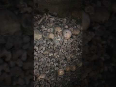Paris catacombs may 2017 (actual legal part) so creepy but amazing!!