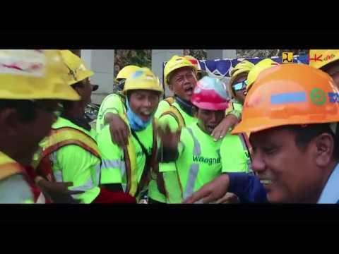 Lifting Center Span ke 2 Jembatan Holtekamp ,Jayapura - Papua