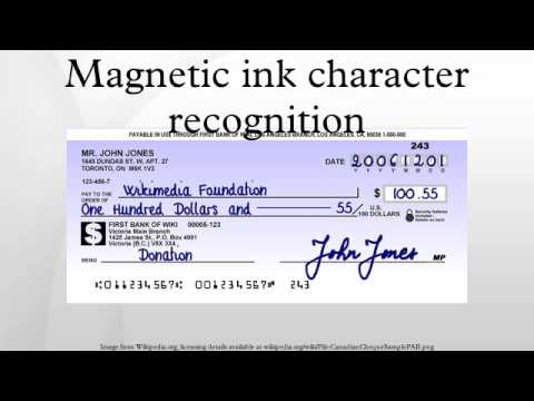 Image result for magnetic ink character recognition