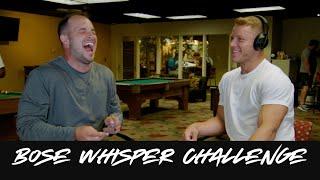 Bose Whisper Challenge: Christian McCaffrey and Michael Palardy