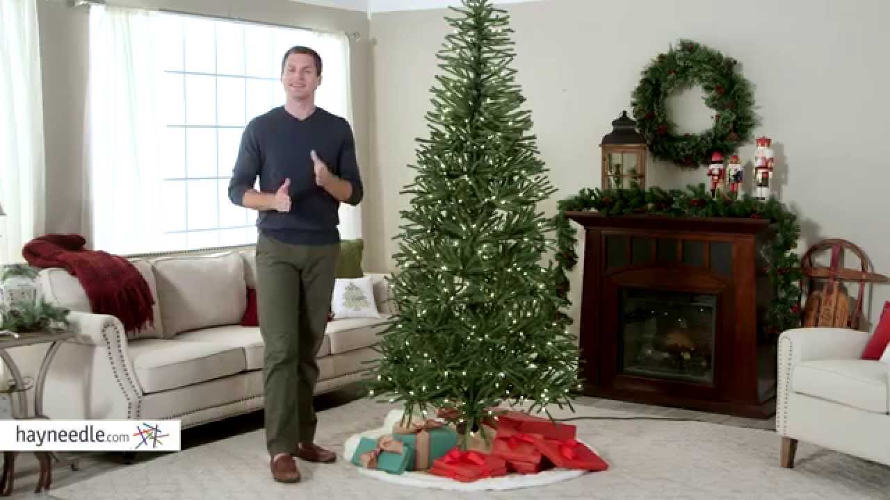 delicate pine slim pre lit christmas tree product review video