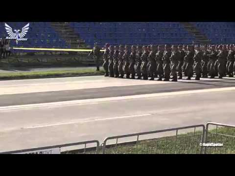 Serbian Soldiers Marching formation   Preparation for Military Parade 1