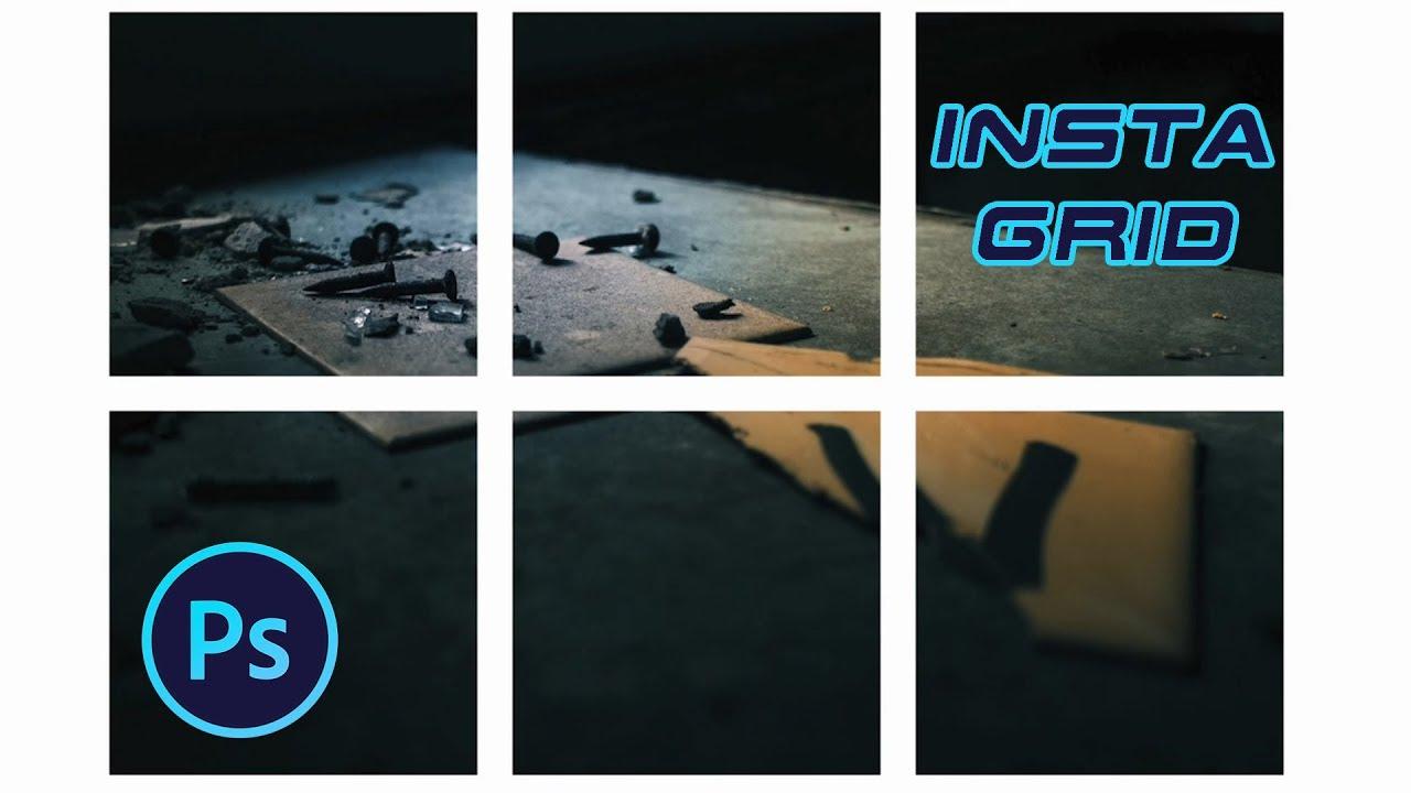 Create INSTAGRAM GRID in Photoshop- Tutorial - YouTube