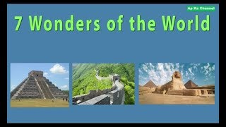 5 Wonders Of The World 2018 Full HD Video