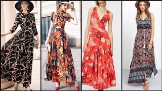 Gorgeous And Fabulous Beautiful Stylish Different Print Long Maxi Dress Design