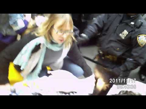 OWS #N17 Protest Police/Protester Scuffle