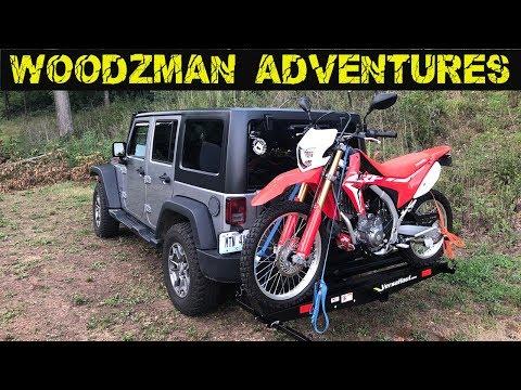 Versahaul VH 55 RO Setup & Install Jeep Wrangler JK Honda CRF250L Dualsport motorcycle carrier