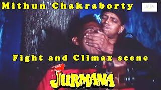 Mithun Chakraborty fight and Climax scene of Jurmana Bollywood Hindi action Movie