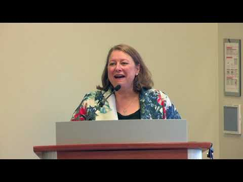 Deborah Harkness, author of TIME'S CONVERT, at the PRH Library BookExpo Breakfast, May 2018