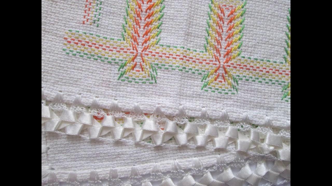 Diy manteles bordados estilo palma para decorar casa for Tela para manteles de mesa