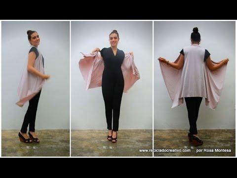 Cómo hacer un chaleco sin coser. Con un pañuelo 57833c80c005