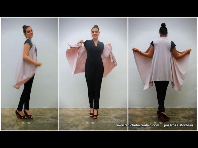 Cómo hacer un chaleco sin coser. Con un pañuelo, un trozo de tela o un foulard #1