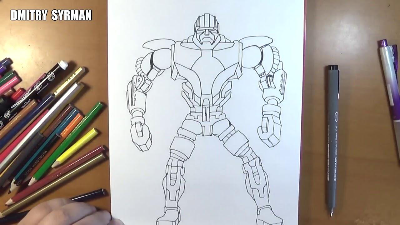 Speed Drawing Robot Zeus Real Steel Youtube