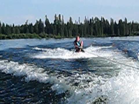 lake inez montana dean crashes knee board