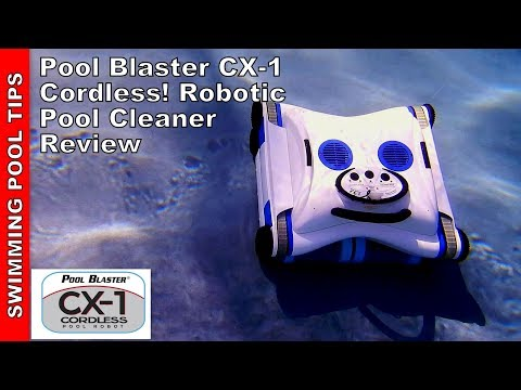 Pool Blaster CX-1 Completely Cordless! Battery Operated Robotic Pool Cleaner - Truly Revolutionary!