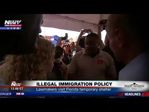 Debbie Schultz Tries To Bully Her Way Into Homestead Temporary Shelter for Unaccompanied Children