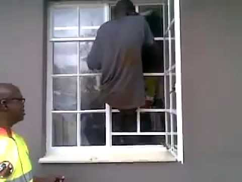 Burglar Climbs Through Burglar Bars With Ease Youtube