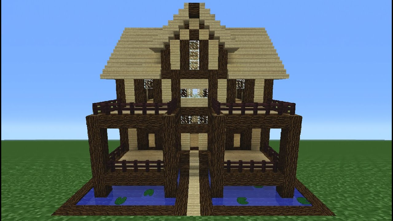 Minecraft tutorial how to make a wooden house 14 youtube - How to make a wooden house ...