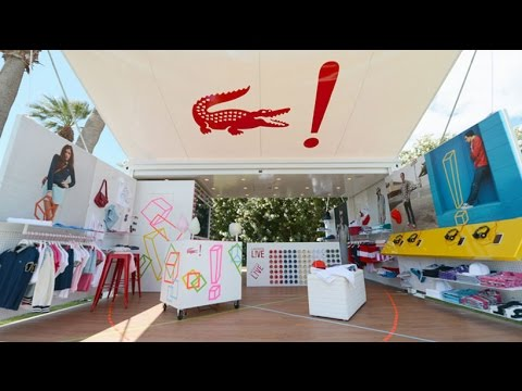 Lacoste Live Shipping Container Pop Up Shop At Coachella