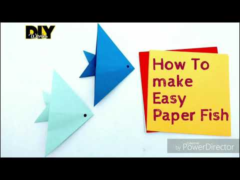 DIY Make Easy Paper Fish