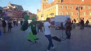Watch these Ireland fans bring Irish dancing to the streets of Poland