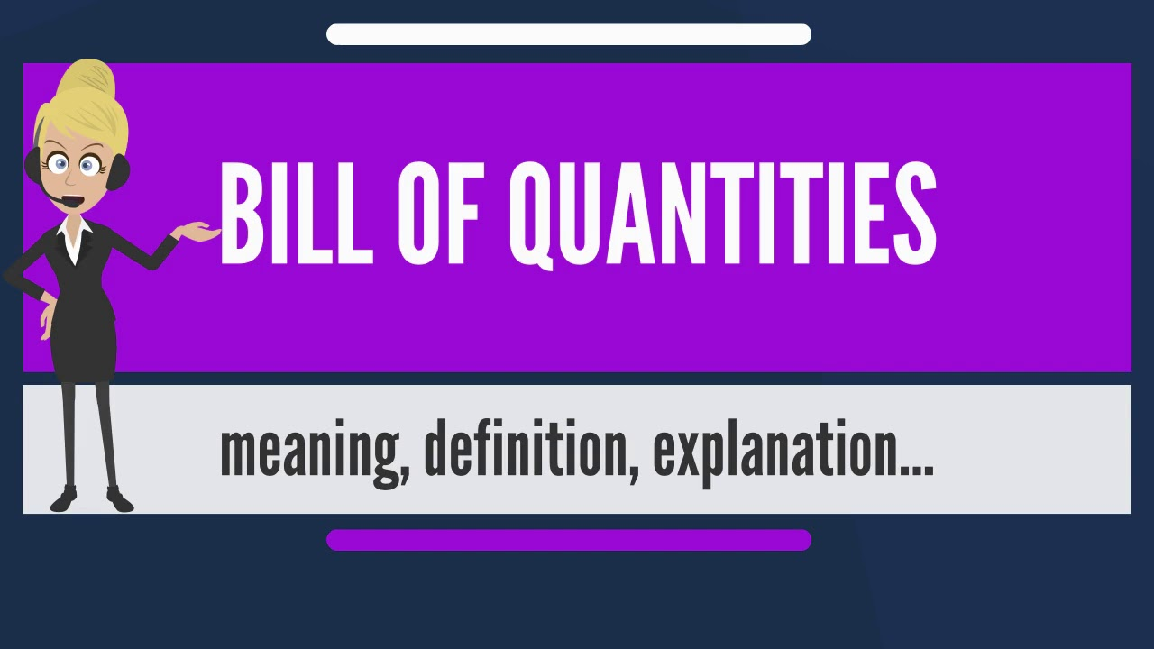 What is bill of quantities what does bill of quantities mean bill what does bill of quantities mean bill of quantities meaning thecheapjerseys Choice Image
