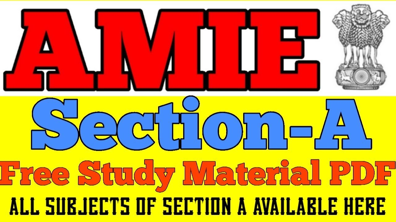 AMIE Study Material (Notes)
