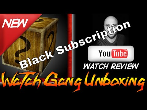 Watchgang Black Subscription Unboxing Video February 2018