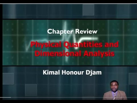 Unit Review System of Units and Dimensional Analysis