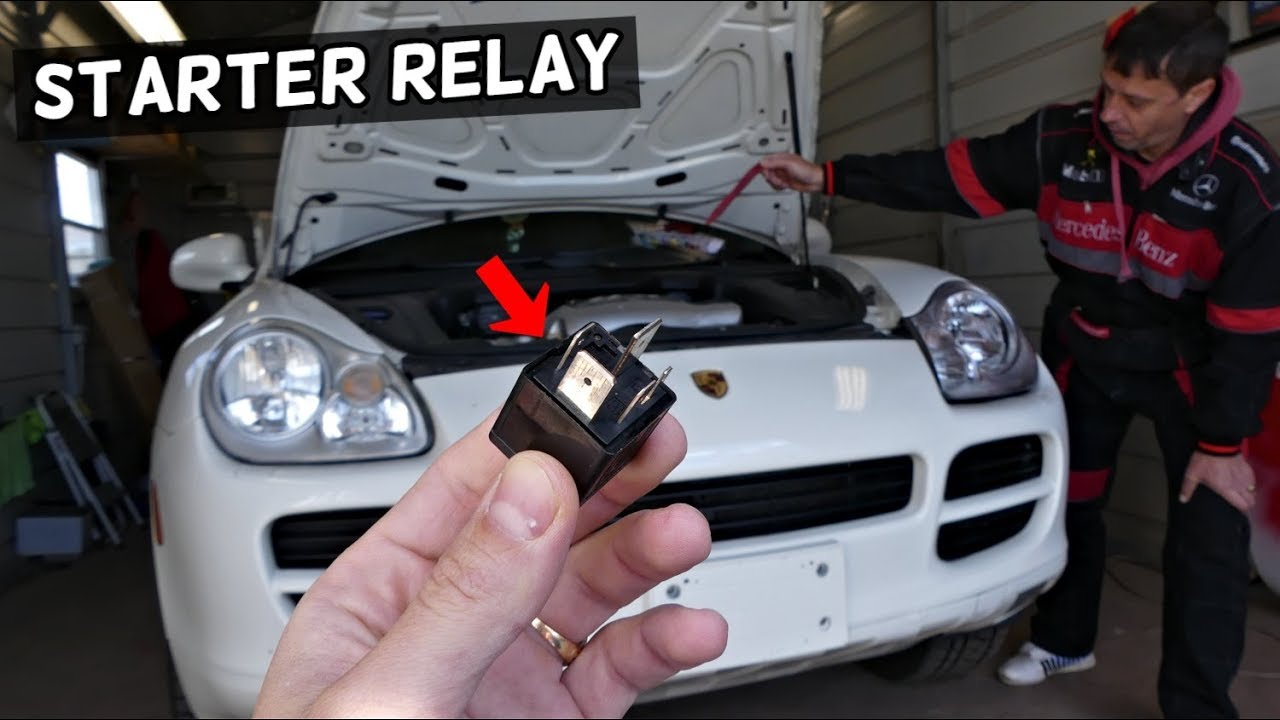 Porsche Cayenne Does Not Crank No Start Starter Relay Location Replacement