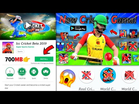 {700MB} Brand-New Cricket Game Download On Android 2019 | Apk+Data Zip | Realstic Graphics