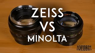 Zeiss Planar T ZE 50mm F1.4 vs Minolta MD Rokkor X 50mm F1.4