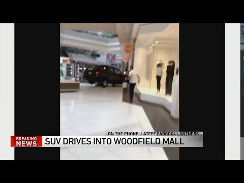 Trey White - WILD! CAR DRIVES THROUGH WOODFIELD MALL
